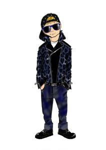 Young Versace FW 14_15 grunge blu